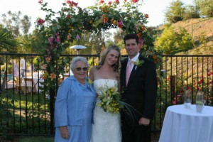 At our wedding