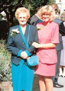 Phyllis with her daughter-in-law, Carole