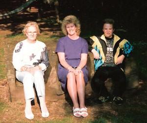 Mum with Pat and Matthew